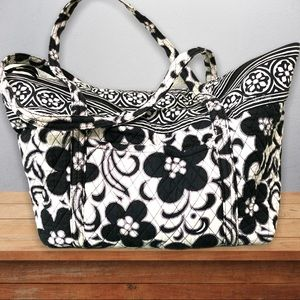 Vera Bradley Baby Diaper Bag Black/White